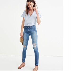 "NWT Madewell 9"" High Rise Skinny Jeans- Sz 32"